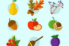 9款美味秋季食物矢量齐乐娱乐