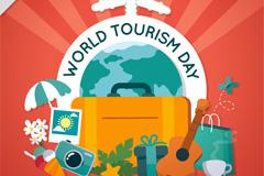 创意世界旅行日贺卡矢量素材
