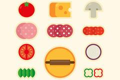 11款彩色披萨原料设计矢量素材