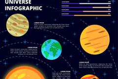 创意星球宇宙信息图矢量素材