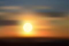 模糊天边日落风景矢量素材