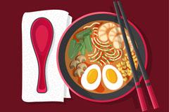 美味日本拉面设计矢量素材