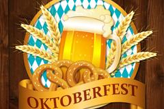 创意慕尼黑啤酒节啤酒标签矢量素