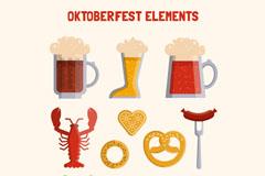 10款创意啤酒节元素设计矢量w88优德