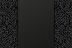炭黑色花纹花边背景矢量素材