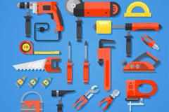 19款红色DIY工具设计矢量素材