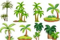 8款绿色椰子树诚博娱乐注册矢量诚博娱乐官网