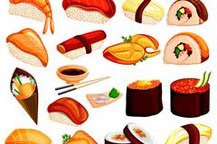 18款美味日本寿司矢量素材