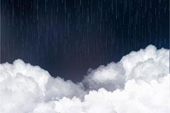 云层上的瓢泼大雨矢量w88优德