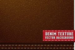 棕色牛仔布背景矢量素材
