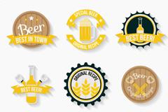 9款精致啤酒标签矢量优发娱乐