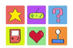 9款创意数码游戏元素图标矢量图