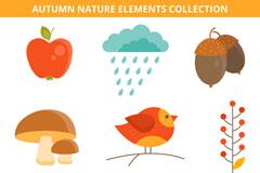 9款可爱秋季自然元素矢量素材