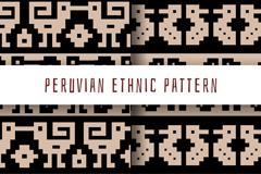 创意秘鲁民族花纹无缝背景矢量图