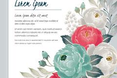复古花卉祝福卡矢量素材
