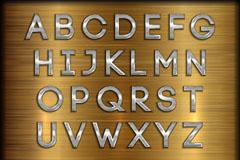 40款银色金属质感字母和数字矢量