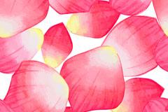 粉红色花瓣无缝背景矢量素材