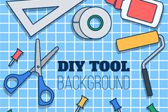 12款彩色DIY工具设计矢量素材
