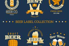 6款创意啤酒标签矢量素材