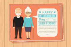 创意国际老年人日贺卡矢量素材