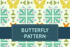 抽象蝴蝶无缝背景矢量素材