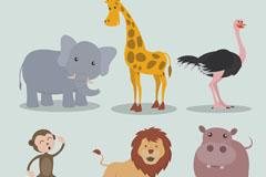6款创意野生动物设计矢量图