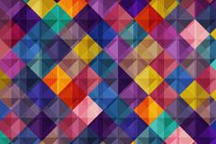 彩色菱形拼接无缝背景矢量图