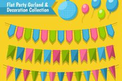 10款彩色派对装饰物设计矢量图