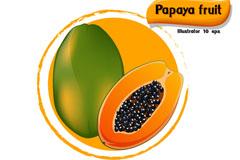 美味木瓜设计矢量素材