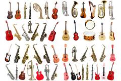 54种吉他萨克斯等乐器高清图片下