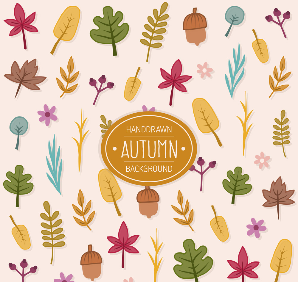 ai橡子,含jpg绘制图,关键字:秋季,树叶,落叶,题目,花,格式,网络背景预览叶子图无缝图片
