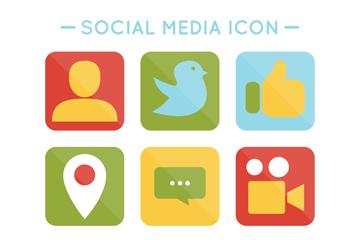 9款创意社交媒体图标矢量素材