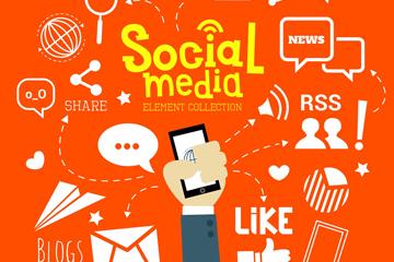 21款创意社交媒体元素矢量图