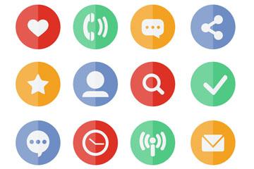 12款圆形社交媒体图标矢量素材