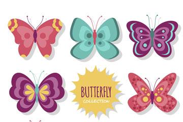 8款创意蝴蝶设计矢量w88优德