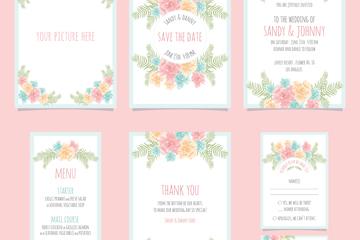 7款素雅花卉卡片设计矢量素材