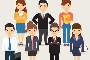 7款创意商务人物矢量素材
