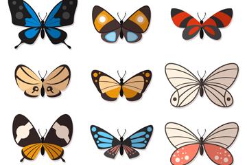9款精美蝴蝶设计矢量素材