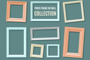 12款彩色墙壁相框设计矢量图