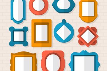 11款彩色相框设计矢量素材