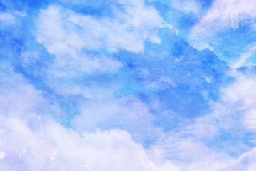 水彩绘晴朗天空矢量素材