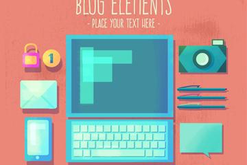 10款创意博客元素矢量素材