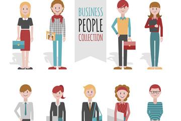 9款创意职业人物设计矢量素材