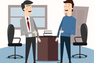 商务会面的2个男子矢量素材
