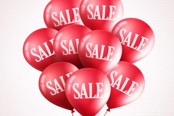 红色SALE销售气球束矢量素材
