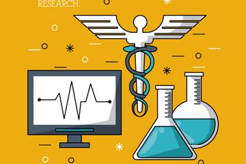 4款创意医疗研究元素矢量素材