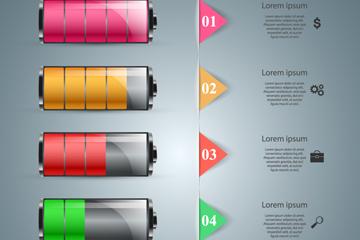 创意电池商务信息图矢量素材