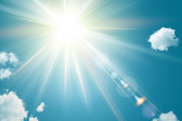 阳光灿烂的天空矢量素材
