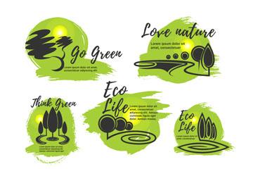 7款绿色环保生活标志矢量素材