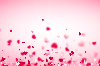 红色飞舞的爱心背景矢量素材